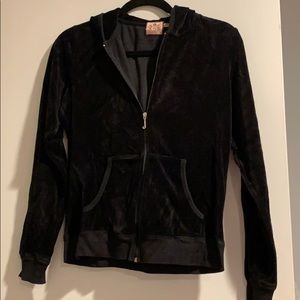 Juicy Couture velvet hooded jacket